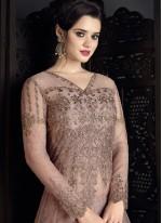Thrilling Embroidered Work Lavender Long Choli Lehenga