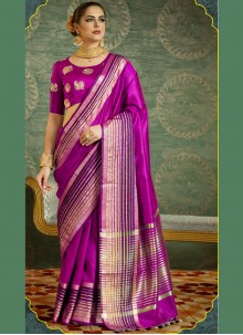 Thrilling Fancy work Work Designer Saree
