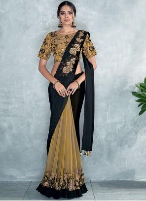 Tissue Embroidered Classic Designer Saree