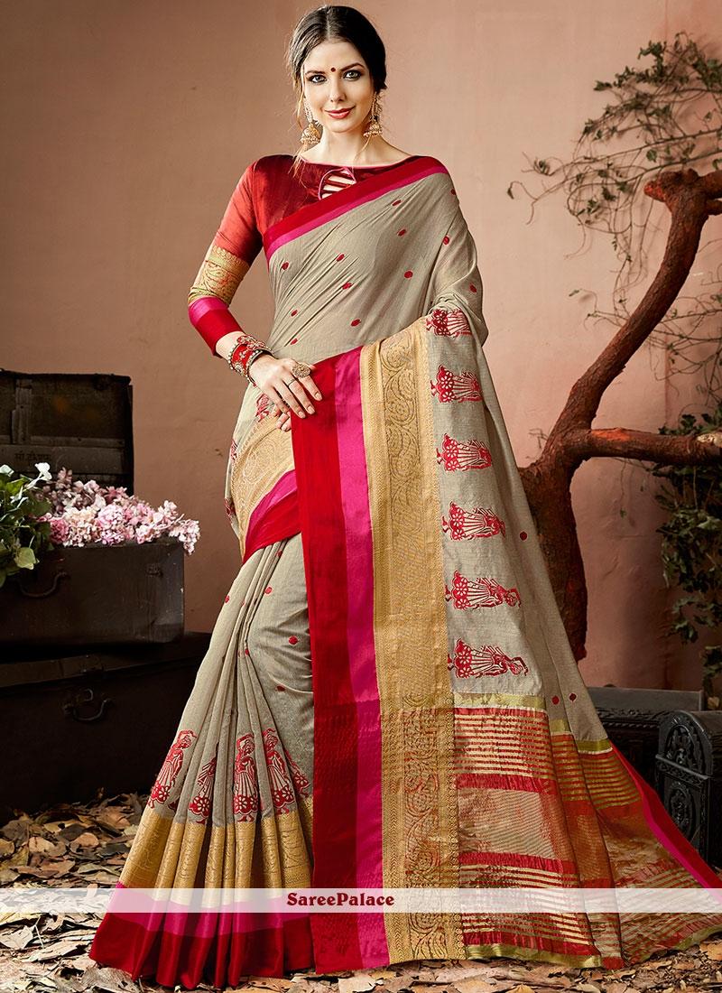 Topnotch Cotton Silk Traditional  Saree