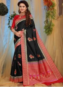 Black Traditional Designer Saree For Festival
