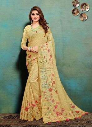 Multi Colour Traditional Designer Saree For Festival