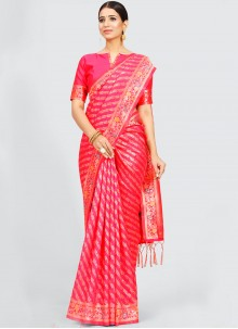Pink Traditional Designer Saree For Festival