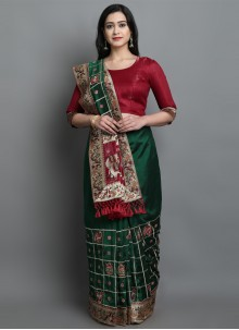 Traditional Green Designer Saree For Sangeet