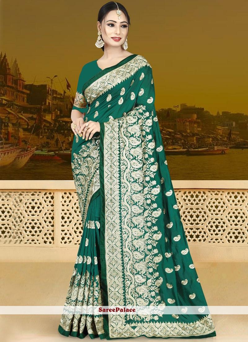 Green Traditional Designer Saree For Wedding