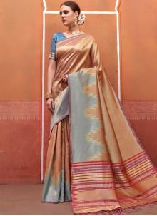 Traditional Designer Saree Weaving Art Silk in Multi Colour