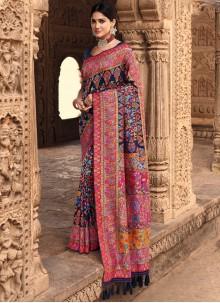 Traditional Designer Saree Weaving Banarasi Silk in Navy Blue