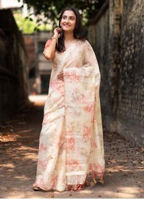 Traditional Designer Saree Weaving Organza in Multi Colour