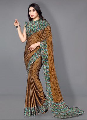 Multi Colour Traditional Saree For Casual