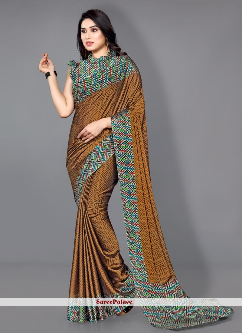 Multi Colour Traditional Saree For Casual