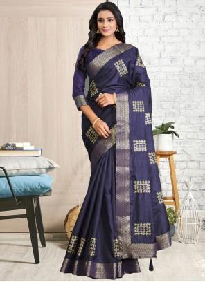 Blue Traditional Saree For Festival