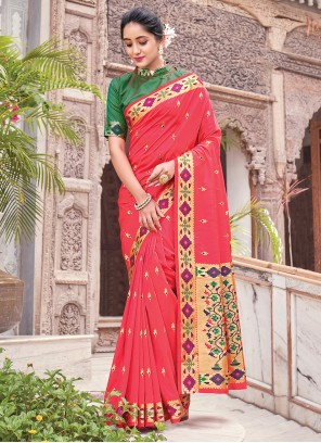 Fuchsia Traditional Saree For Party