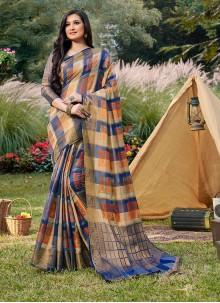 Traditional Saree Woven Handloom silk in Blue