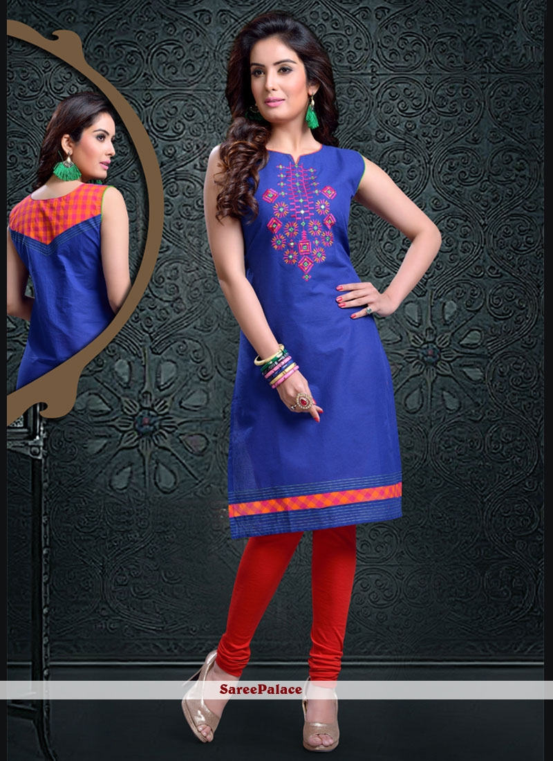 Transcendent Blue Party Wear Kurti