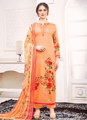 Trendy Orange Salwar Kameez For Festival