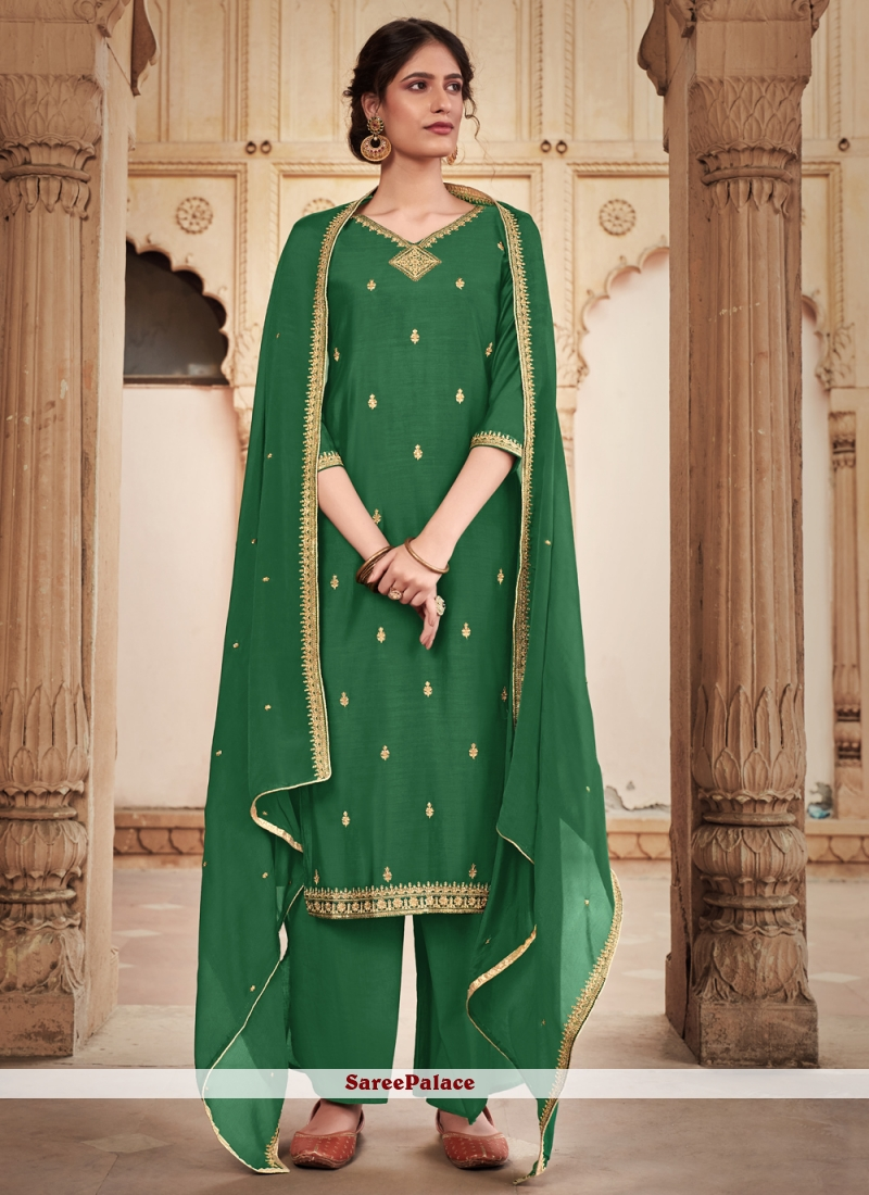 Trendy Green Salwar Kameez For Party