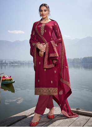 Trendy Maroon Salwar Suit For Party