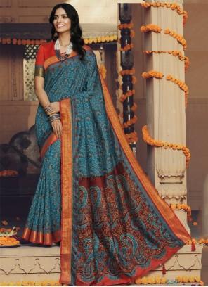 Trendy Multi Colour Saree For Party