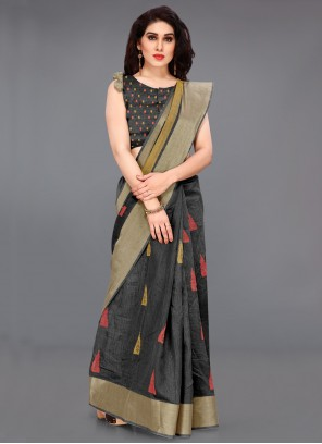 GreyTrendy Saree For Party