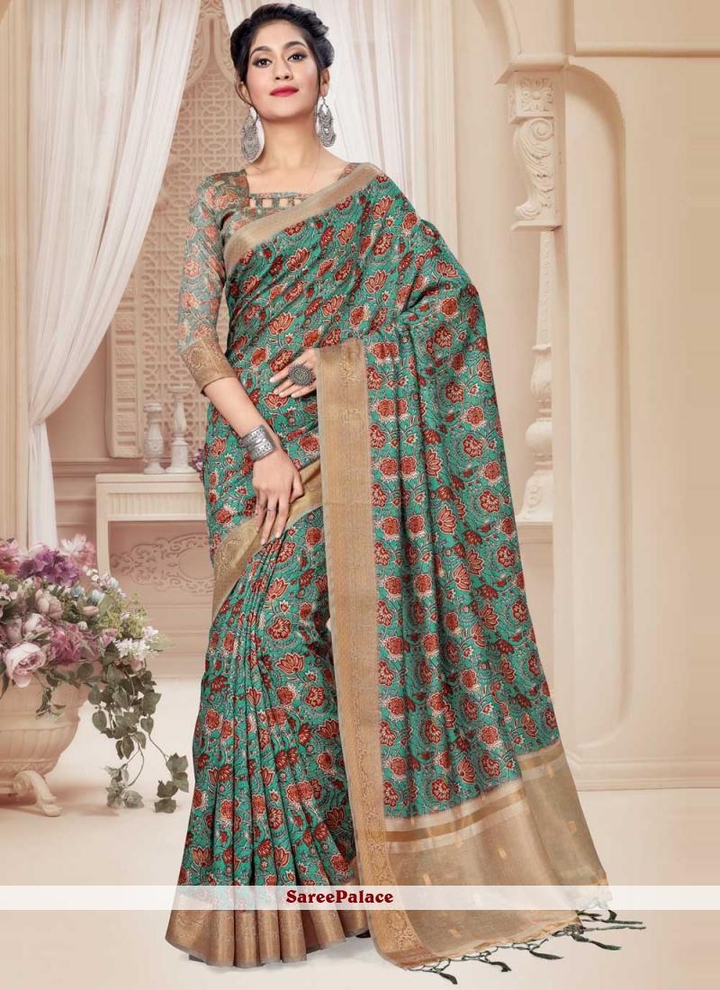 Multi Colour Art Silk Trendy Saree For Party