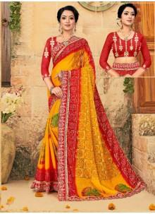 Multi Colour Trendy Saree For Party