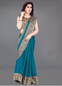 Turquoise Color Casual Saree