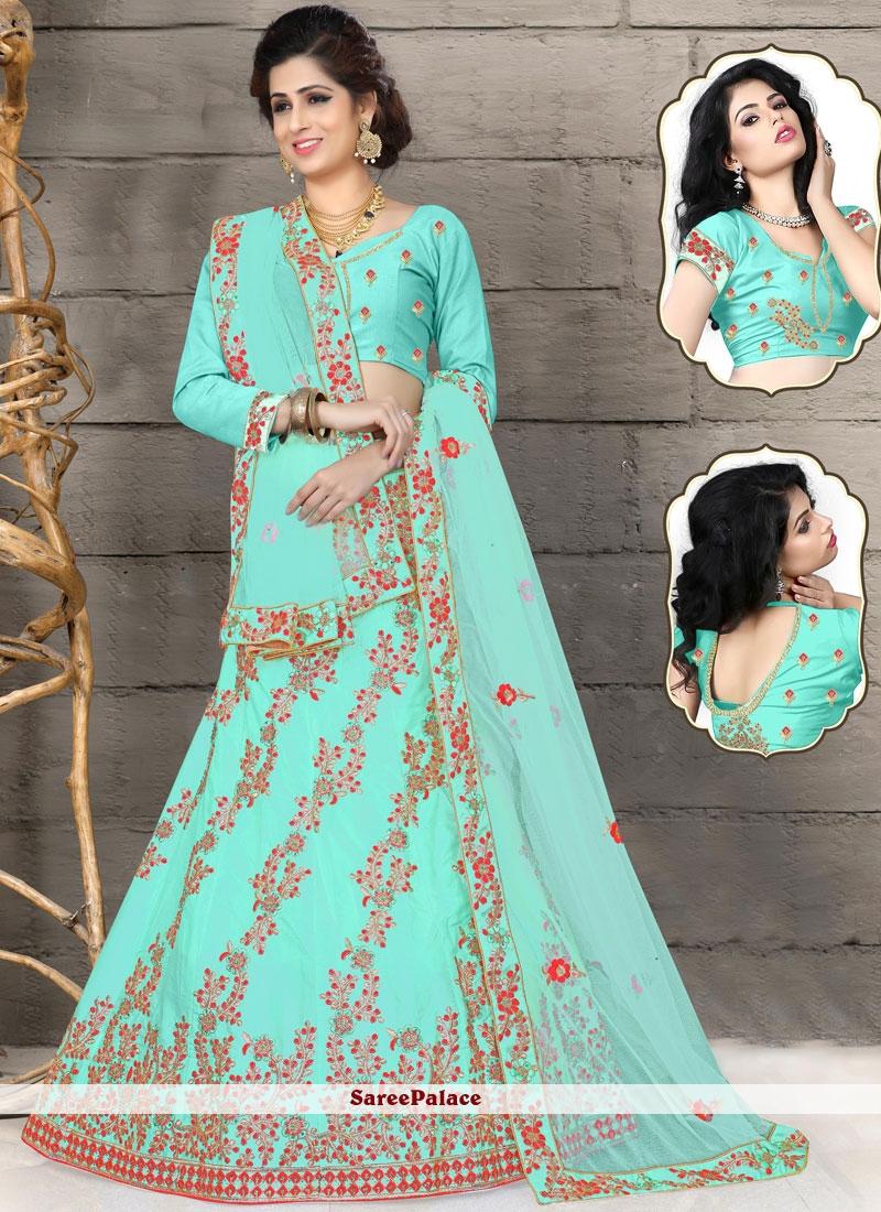 Turquoise Designer Lehenga Choli