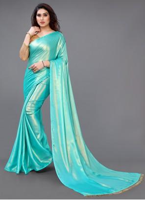 Turquoise Fancy Festival Classic Designer Saree