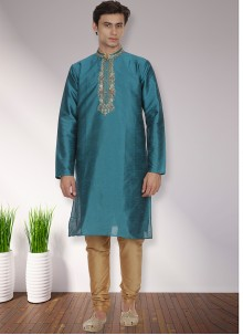 Turquoise Sangeet Kurta Pyjama