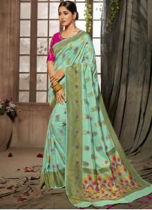Turquoise Stone Bridal Designer Traditional Saree