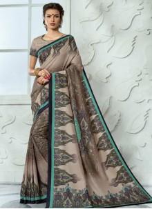 Tussar Silk Multi Colour Casual Saree