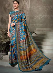 Tussar Silk Silk Saree in Multi Colour