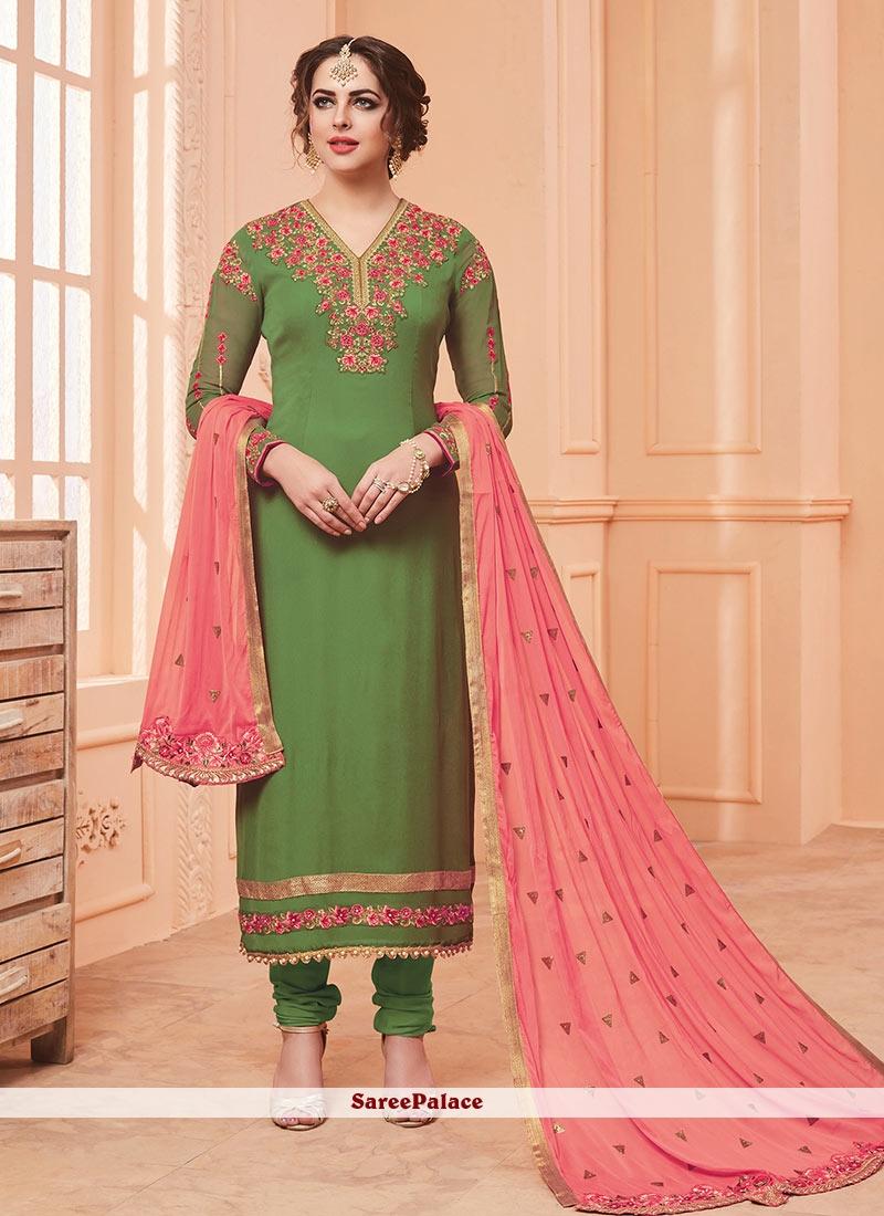 8029488f41 Buy Unique Georgette Thread Work Salwar Suit Online
