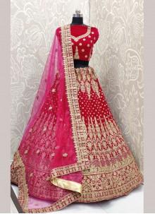 Velvet Trendy Designer Lehenga Choli
