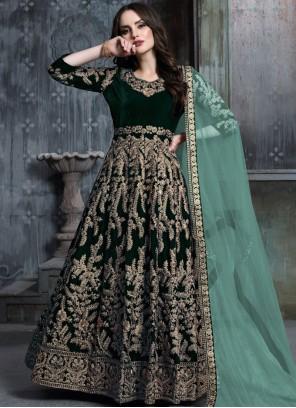 Velvet Zari Anarkali Salwar Suit