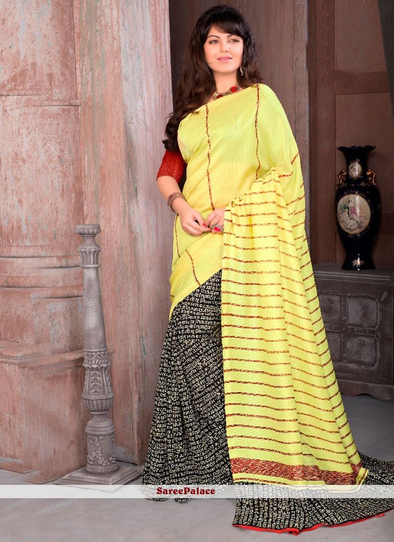 Versatile Cotton   Print Work Printed Saree