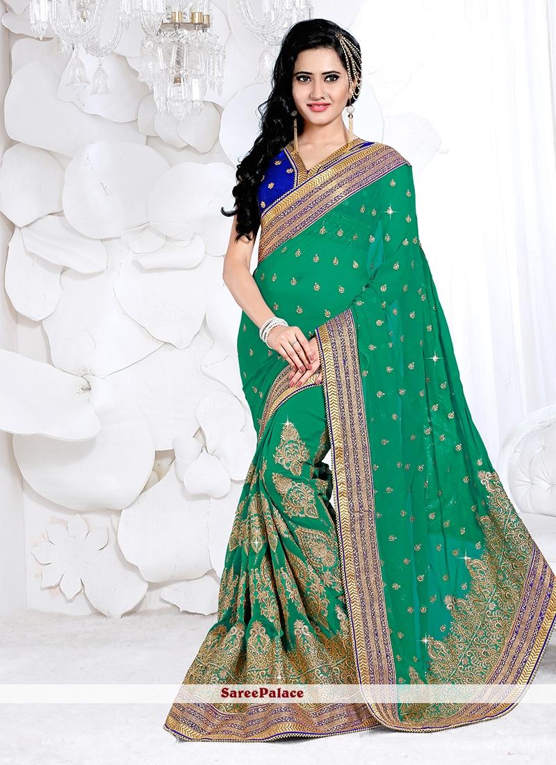 Vibrant Zari Work Classic Designer Saree