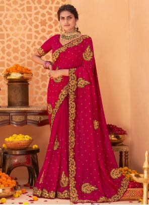 Vichitra Silk Ceremonial Designer Saree