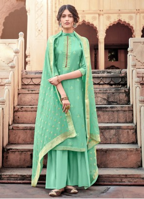 Viscose Designer Salwar Kameez in Green