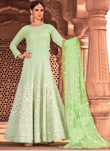Viscose Embroidered Readymade Salwar Suit
