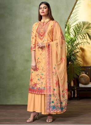 Viscose Yellow Bollywood Salwar Kameez