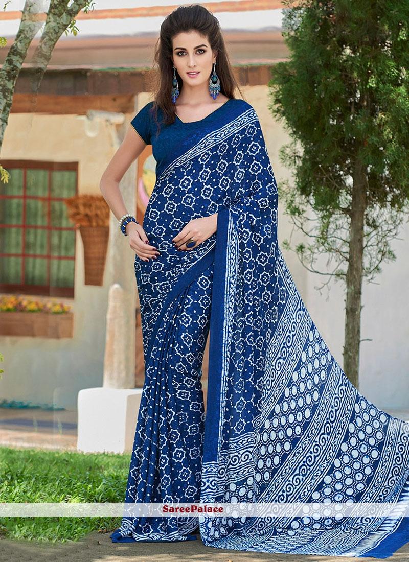 Vivacious Crepe Jacquard Printed Saree