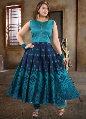 Weaving Anarkali Salwar Kameez