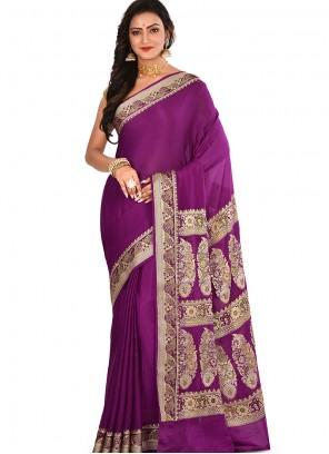 Weaving Art Banarasi Silk Rani Designer Traditional Saree
