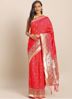 Weaving Art Banarasi Silk Saree