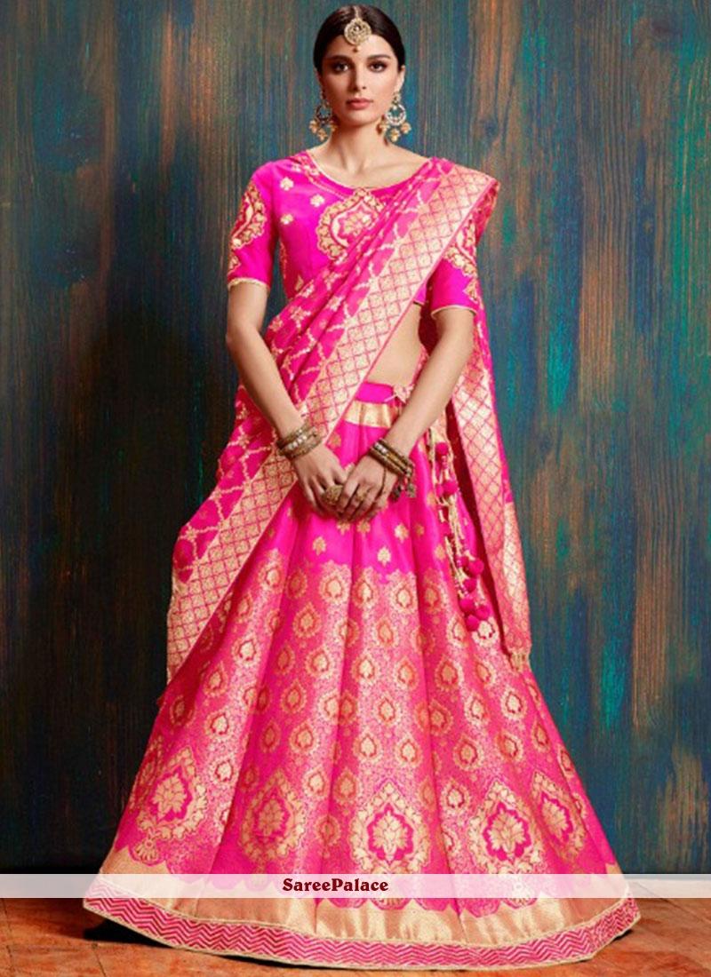 Weaving Art Silk Lehenga Choli