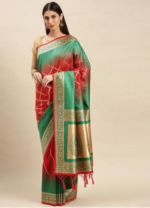 Weaving Banarasi Silk Designer Traditional Saree