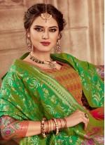 Weaving Banarasi Silk Lehenga Choli in Pink