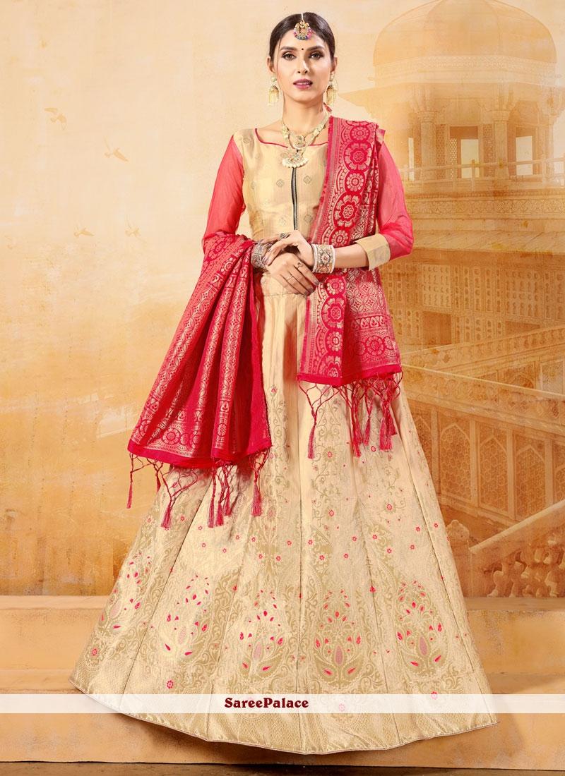 Weaving Banarasi Silk Trendy Lehenga Choli