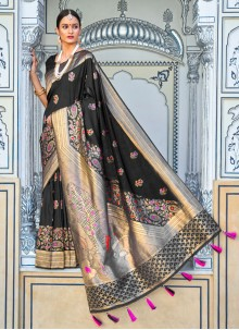 Weaving Black Designer Saree